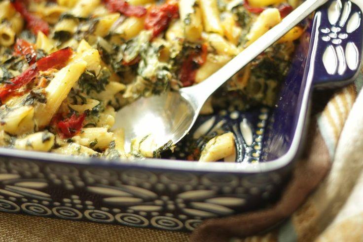 temp-tations by Tara: Make-Ahead, Freezer-Friendly One Dish Meals: Creamy Sun-Dried Tomato  Spinach Pasta Bake