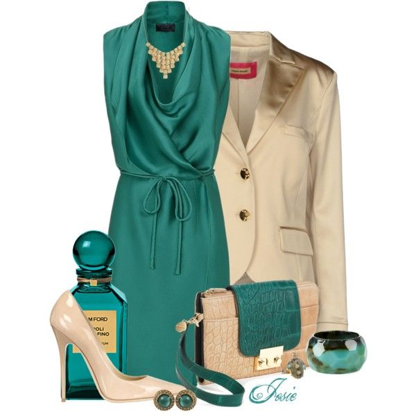 """""""teal & beige"""" by josiriou on Polyvore"""