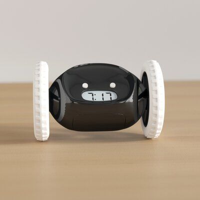 Trule Teen Clocky Alarm Clock on Wheels Bundle Colour: Black/Chrome Colour Black, Color, College Dorm Rooms, Bedside, Alarm Clock, Back To School, Graduation, Chrome, Wheels