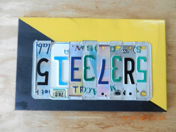 Steelers Pittsburgh Steelers License Plate by TreasuredSunsets