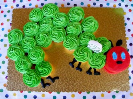 Very Hungry Caterpillar cupcake cake. Learn how to make it in CUPCAKE CAKES from Imagine Publishing.