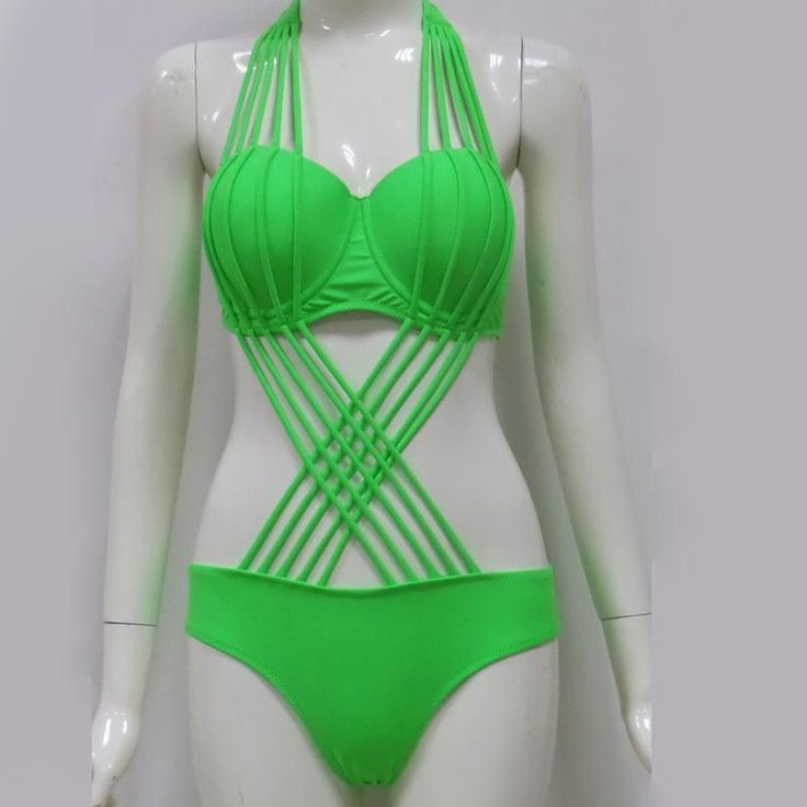 One Piece Strappy Bathing Suit