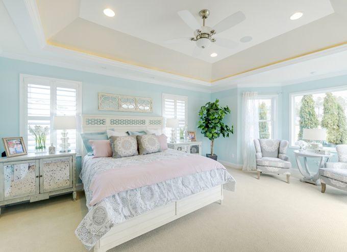 Peaceful blue bedroom echelon interiors beautiful for Peaceful master bedroom designs