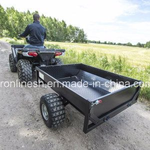 Black Power Coating Tread Plate 500kgs Versatile Tipping Farm Trailer/Box Trailer/Single Axle Trailer/Garden Trailer/Yard Trailer for Quads/ATV/Small Tractors - China Farm Trailer, Box Trailer | Made-in-China.com Mobile