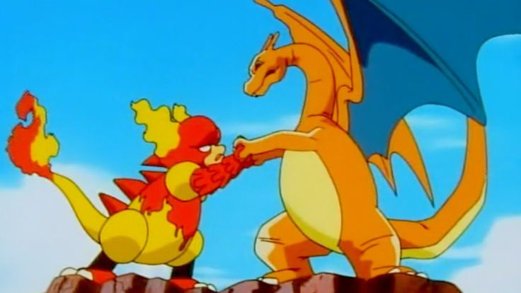 Pokemon Manga vs Charizard HD Wallpaper Wide