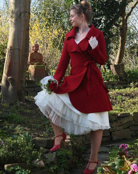 hochzeitskleider brautmantel wickelmantel mantel walkmantel rot