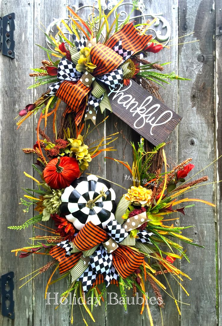 Thankful Fall Grapevine by Holiday Baubles