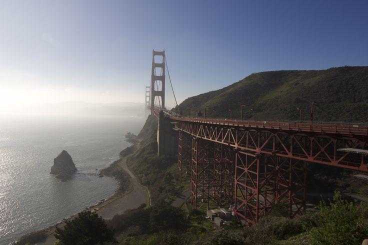Golden Gate Bridge in mist