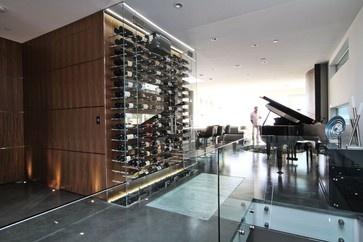 12 best vin de garde custom modern wine cellar design wave house images on pinterest cellar. Black Bedroom Furniture Sets. Home Design Ideas