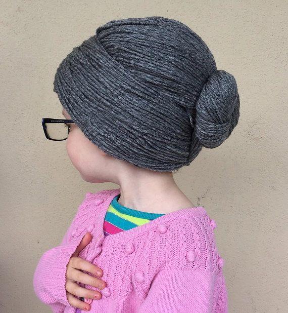 Oma-Perücke-Garn Perücke alte Dame Hat Oma Haar Bun von YumbabY