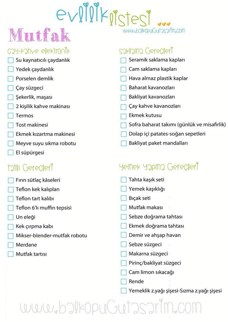 Mutfak3 ceyiz listesi – #Çeyiz #Düğünfikirleri #Düğünfotoğrafçılığı…