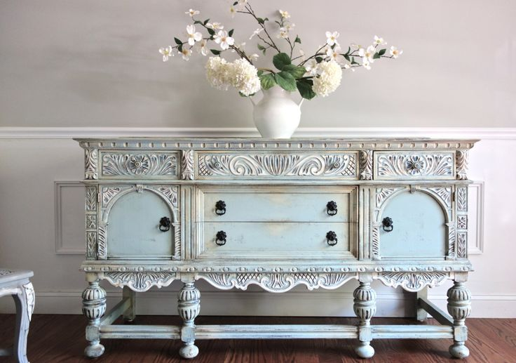 SOLD  Antique Ornate Jacobean Hand Painted by FrenchCountryDesign