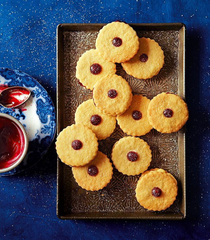 Eaten plain or dunked in tea, these biscuits come with the perfect amount of sweet, raspberry stickiness and subtle almond creaminess.