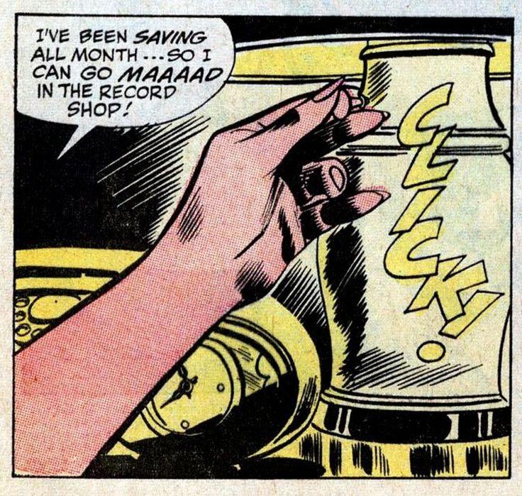 Saving up for the record shop (vinyl records in comics)