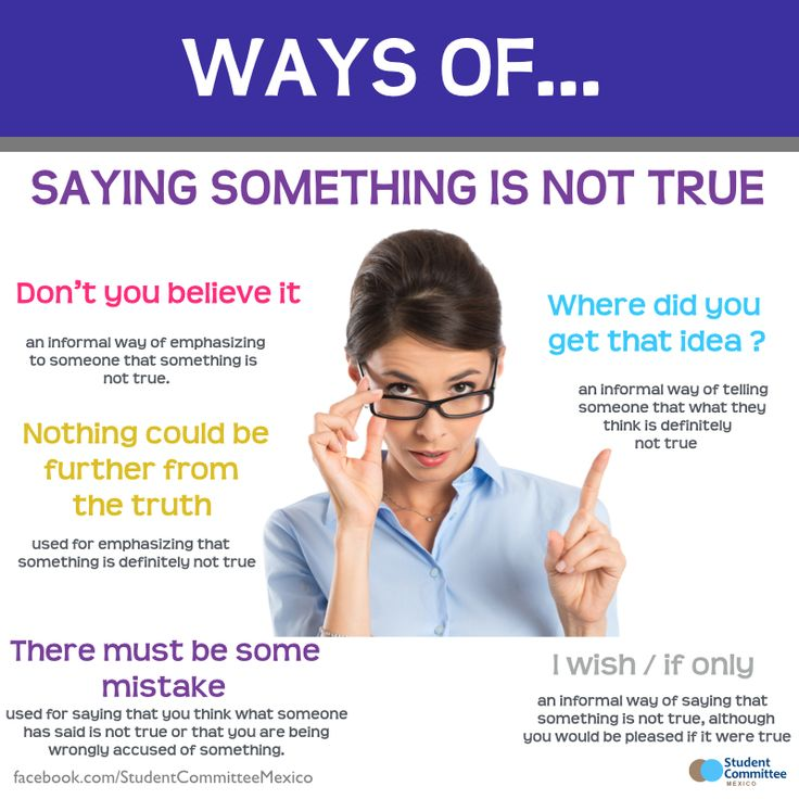 ' Saying something is not true ' WAYS OF ...        Repinned by Chesapeake College Adult Ed. We offer free classes on the Eastern Shore of MD to help you earn your GED - H.S. Diploma or Learn English (ESL) .   For GED classes contact Danielle Thomas 410-829-6043 dthomas@chesapeke.edu  For ESL classes contact Karen Luceti - 410-443-1163  Kluceti@chesapeake.edu .  www.chesapeake.edu