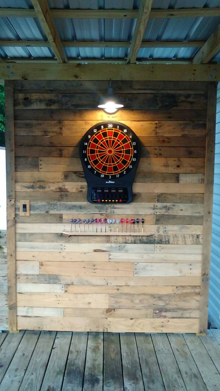 Dart board wall… Such a cool idea for the basement!!! I think Dan would like this :)