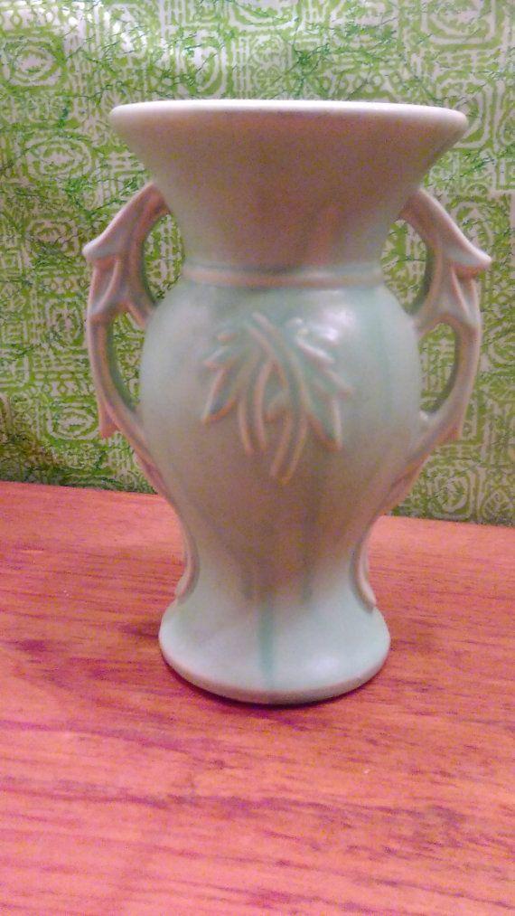 Vintage Baby Blue McCoy Vase Large McCoy Pottery Vase