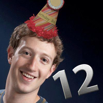 Facebook 12 yaşında, Mutlu yıllar Facebook :) #happybirthday #facebook  #markzuckerberg #friendsday