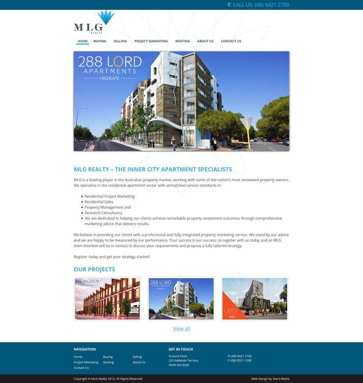 MLG Realty Web Design by Star 3 Media