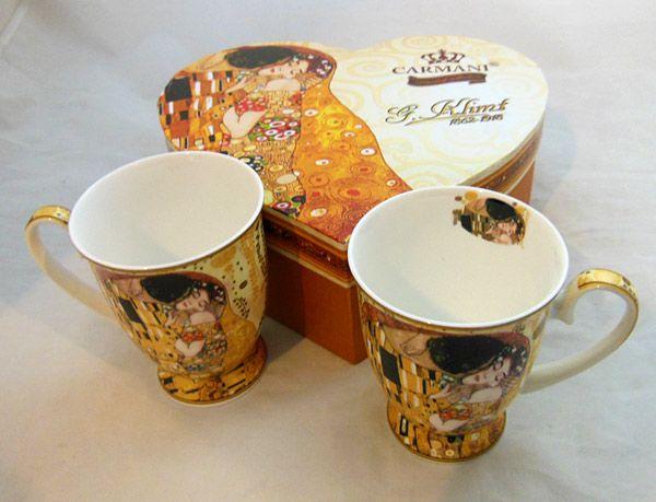 Szerelmes Klimt bögrék