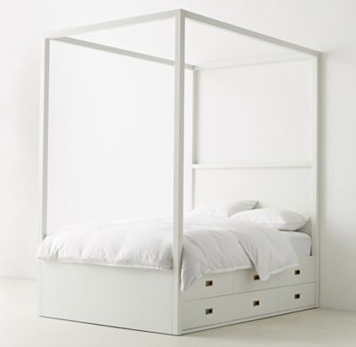 Restoration Hardware, twin, canopy plus storage