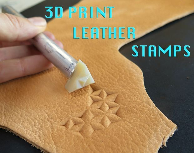 http://www.instructables.com/id/3D-Print-Your-Own-Leather-Stamps/
