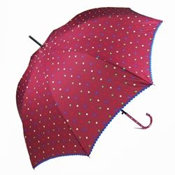 Plum Polka Dot Parade Ladies Umbrella
