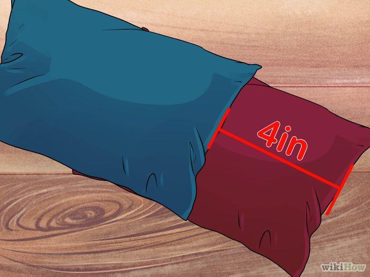 fabriquer un panier en utilisant des oreillers