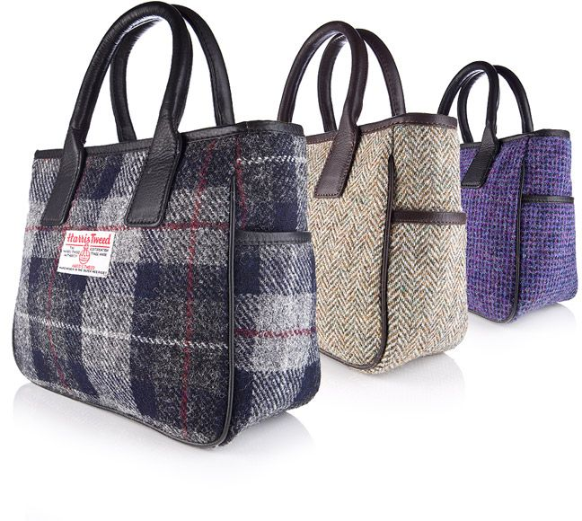 Harris Tweed Bags and more from Bracken Online. Just like the purse I bought in Scotland at McNaughtons of Pitlochry. Now I can get another if mine ever wears out.
