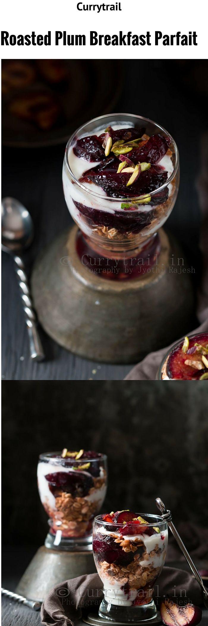 Roasted Plum Breakfast Parfait