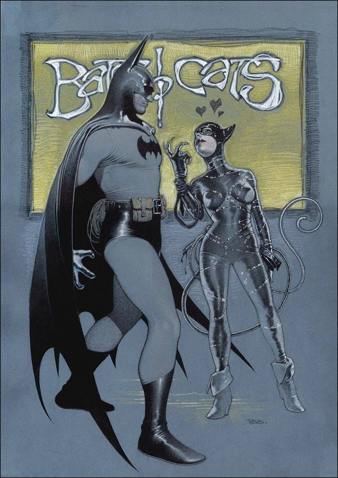Batman & Catwoman by Travis Charest