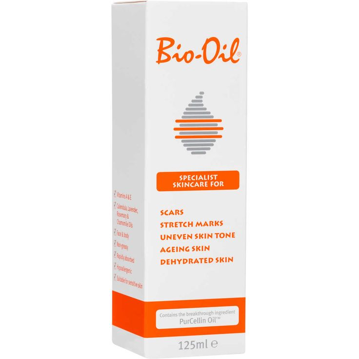 Bio-Oil Specialist Skincare is formulated to help improve the appearance of scars, stretch marks and uneven skin tone. Its unique formulation, which contains the breakthrough ingredient PurCellin Oil, is also highly effective for combating the signs of ageing and dehydrated skin. This hypoallergenic formula is also suitable as a soothing after-sun treatment or intensive moisturising bath oil.