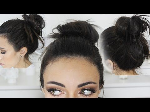 Quick And Easy 5 Seconds Cute Messy Bun Tutorial | MakeupAndArtFreak - YouTube
