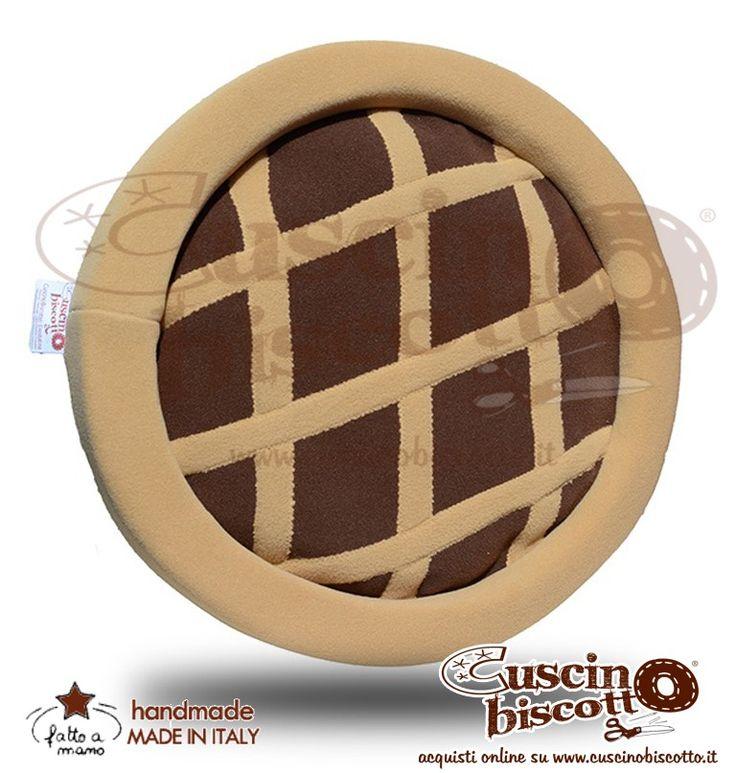 Cuscino Biscotto - Crostatina - Fondo Marrone