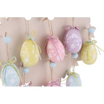 183 best chocolate is so last year easter gifts with a difference set of 4 wooden easter decorations a lovely set of 4 medium hand painted wooden eggs in pastel patterned colours these will look delightful hanging on an negle Image collections