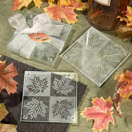 Fall Themed #Wedding Coaster Favors: Discount Price: $0.85