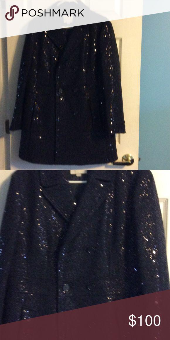 Sequin coat Very nice winter sequin jacket navy blue LOFT Jackets & Coats