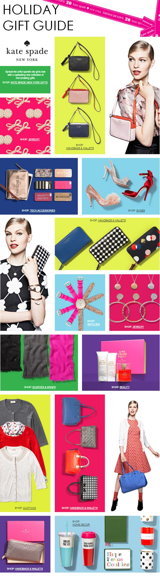 Kate Spade's Holiday Gift Guide - so many great (and affordable) gifts!