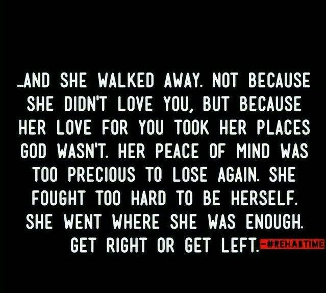 """Her love for you took her places where God wasn't."" #ouch"