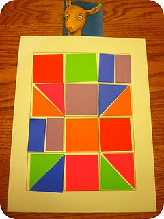 shape quilts... for Llama Llama Red Pajama, or other books with blankets and quilts