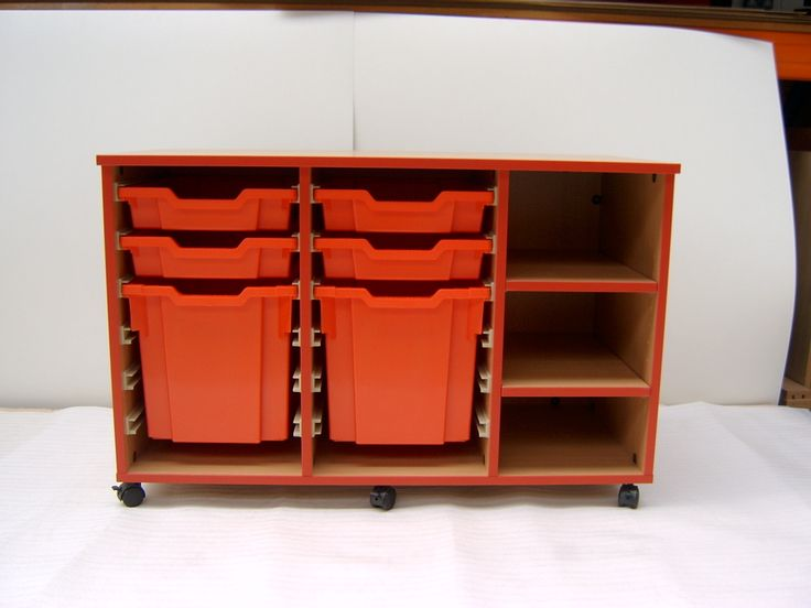 Classroom Storage Ideas Uk : Shelf and tray classroom storage finished in beech with