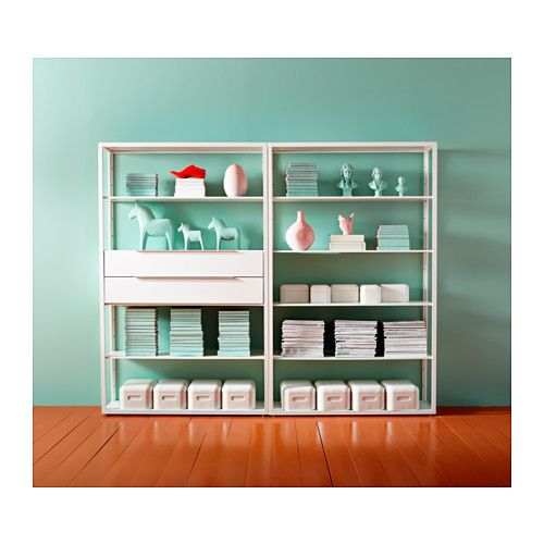 FJÄLKINGE Shelf unit  - IKEA  the turquoise walls never hurt but I think these are great shelves for my craft room..