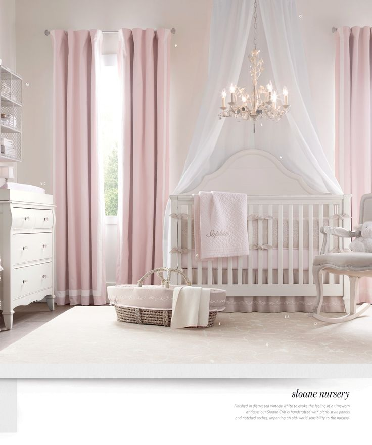 Curtains In The Nursery For Girls Girl Nurseries Girls Room Baby Room Baby Girls Girls Nurseries
