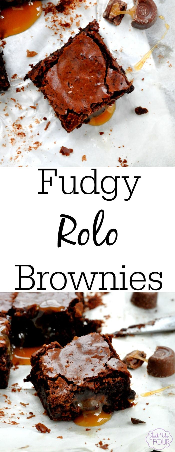 Fudgy Rolo Brownies