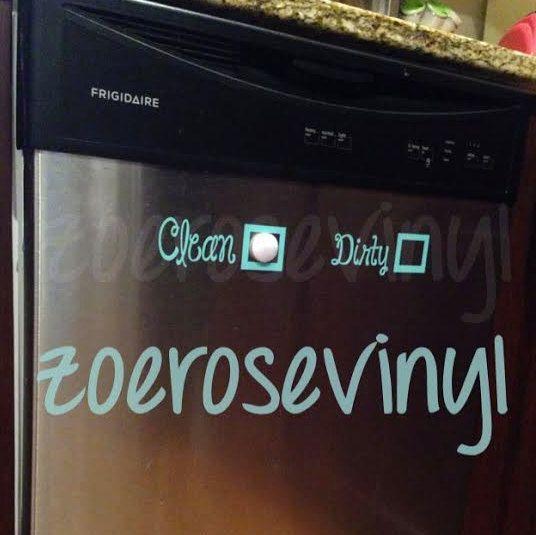 Dishwasher Clean/Dirty Vinyl Decal