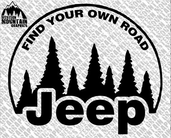 Jeep Find Your Own Road Vinyl Window Wall Decal Adhesive