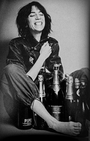 Patti Smith and champagne!