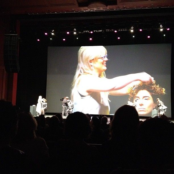 DAT (Davines Artistic Team) on stage at the Davines World Wide Hair Tour 2012 Miami. Naomi Knights on stage