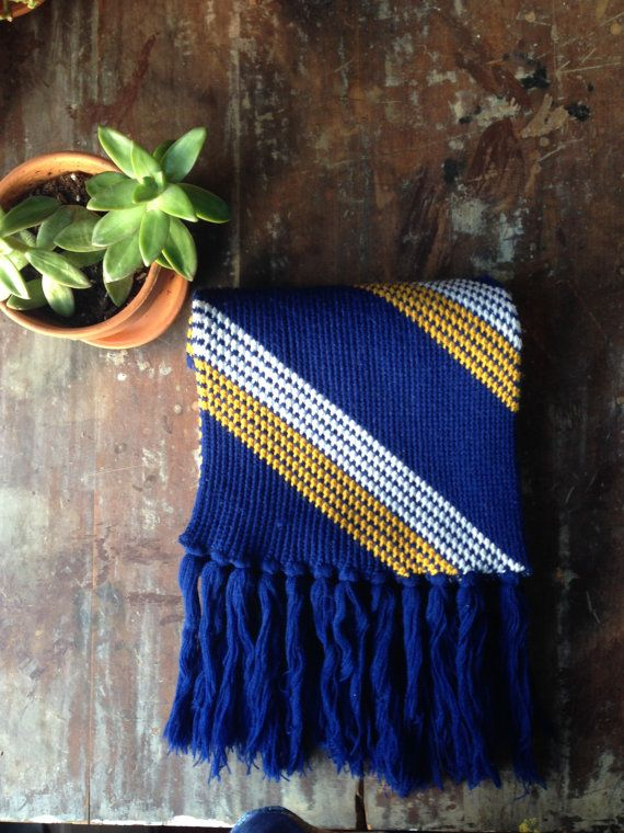 Hey, I found this really awesome Etsy listing at https://www.etsy.com/listing/215576326/vintage-royal-blue-white-and-gold-scarf
