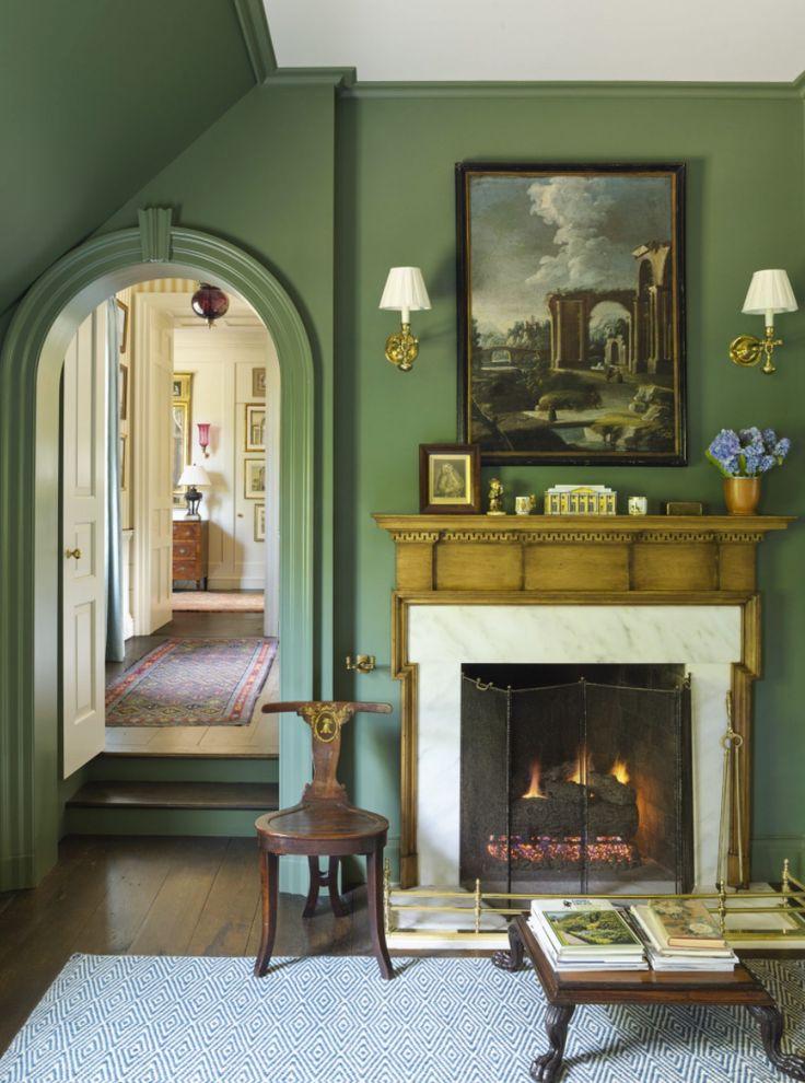 verde esmeralda en las paredes .